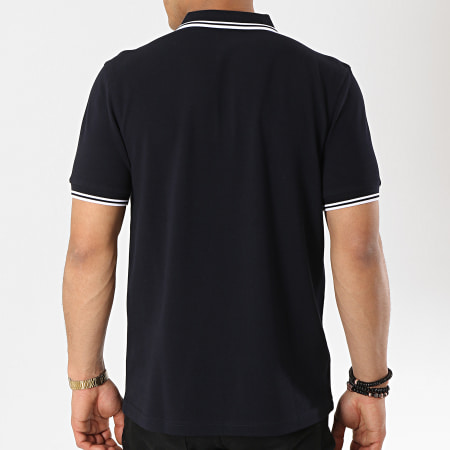 Fred Perry - Polo Manches Courtes Twin Tipped M3600 Bleu Marine Blanc