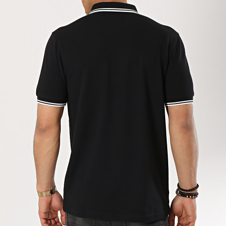 Fred Perry - Polo Manches Courtes Twin Tipped M3600 Noir Blanc