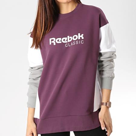 Reebok - Sweat Crewneck Femme Classics Advanced DY1676 Bordeaux Blanc Gris