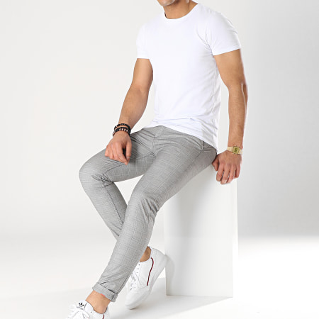 Classic Series - Pantalon A Carreaux 1014 Gris