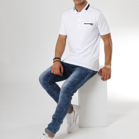 Classic Series - Polo Manches Courtes 6622 Blanc