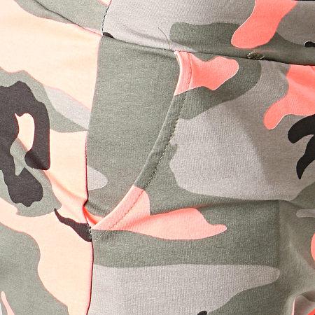 MTX - Short Jogging TM0067 Vert Kaki Orange Fluo Camouflage