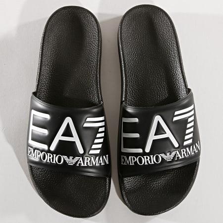 EA7 - Claquettes Slipper Visibility XCP001-XCC22 Noir