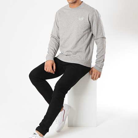 EA7 - Sweat Crewneck 3GPM52-PJ05Z Gris Chiné