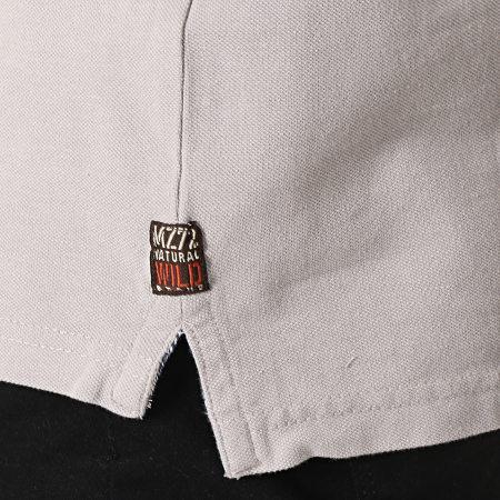 MZ72 - Polo Manches Courtes Pierrot Gris