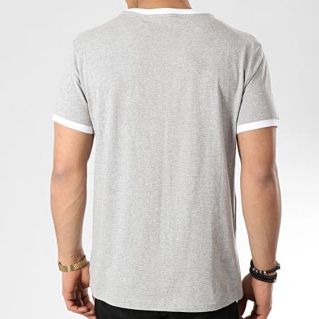 Tommy Hilfiger - Tee Shirt Logo Flag 1170 Gris Chiné Blanc