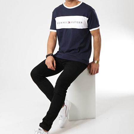 Tommy Hilfiger - Tee Shirt Logo Flag 1170 Bleu Marine Blanc