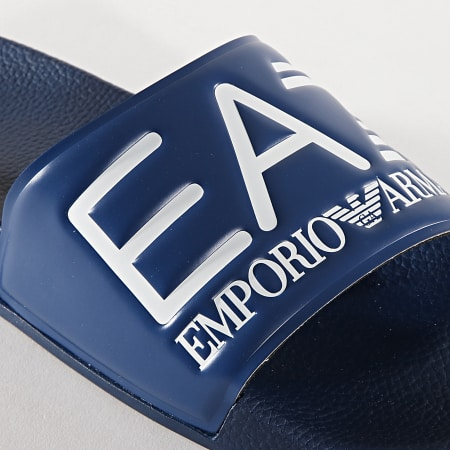 EA7 - Claquettes Slipper Visibility XCP001-XCC22 Bleu Marine