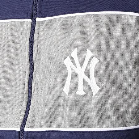 Majestic Athletic - Veste Zippée MLB New York Yankees Cut Sew Bleu Marine Gris Chiné