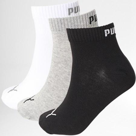 Puma - Lot De 3 Paires De Chaussettes 271080001 Blanc Noir Gris Chiné