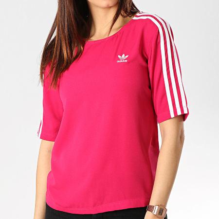 adidas - Tee Shirt Femme 3 Stripes DV0853 Magenta