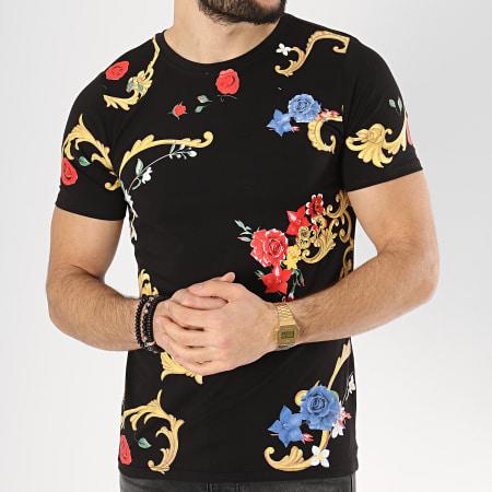 Berry Denim - Tee Shirt 111 Noir Renaissance Floral