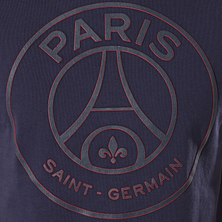 PSG - Tee Shirt Big Logo Paris Saint-Germain P12881 Bleu Marine