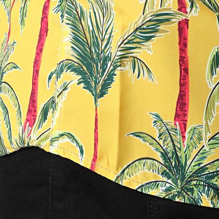 Classic Series - Chemise Manches Courtes 1447 Malibu Jaune Floral