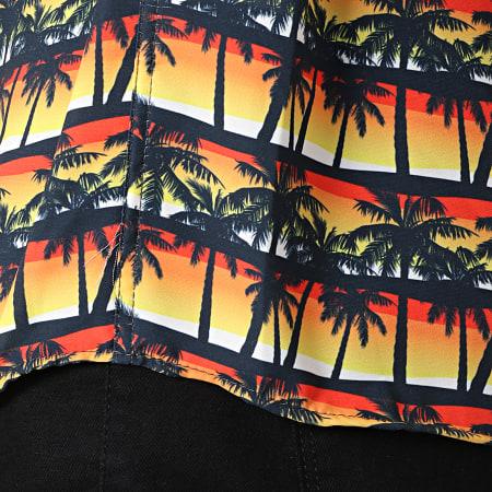 Classic Series - Chemise Manches Courtes 1447 Sunshine Jaune Noir Sunset