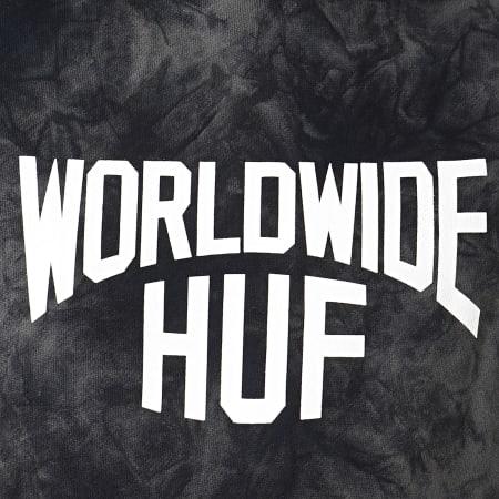 HUF - Sweat Capuche Manhattan Noir Gris Anthracite