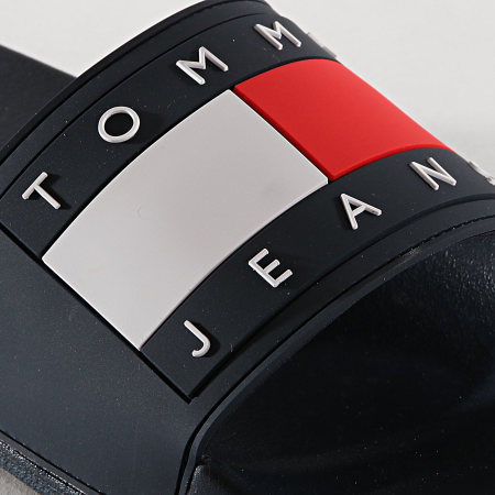 Tommy Hilfiger Jeans - Claquettes Flag EM0EM00284 Bleu Marine