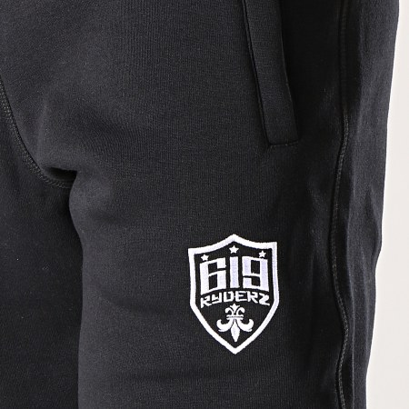 619 Ryderz - Pantalon Jogging Logo Classic Noir