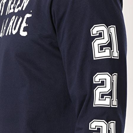 C'est Rien C'est La Rue - Tee Shirt Manches Longues 21 Bleu Marine