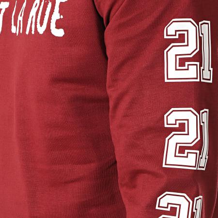 C'est Rien C'est La Rue - Tee Shirt Manches Longues 21 Bordeaux