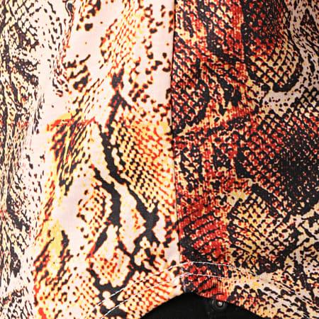 John H - Tee Shirt Oversize A032 Jaune Serpent