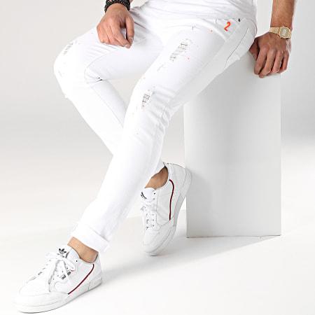 John H - Jean Slim L8835 Blanc