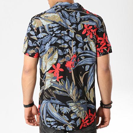 Produkt - Chemise Manches Courtes Dek Paint Resort AOP Noir Floral