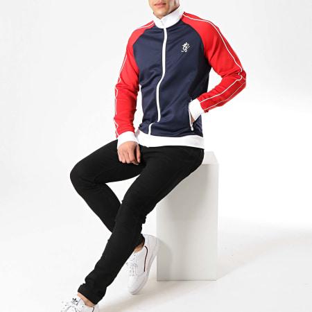 Gym King - Veste Zippée Tri Colour Poly Bleu Marine Rouge Blanc