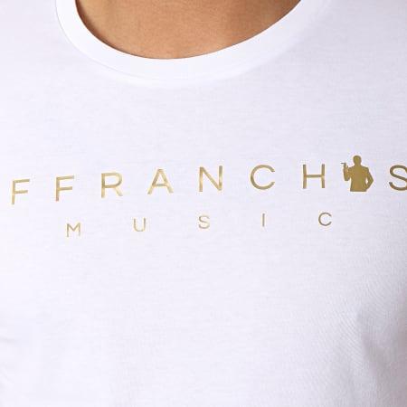 Sofiane - Tee Shirt Affranchis Music Blanc Doré
