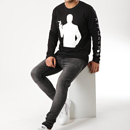 Sofiane - Tee Shirt Manches Longues Affranchis Music Silhouette Noir Blanc