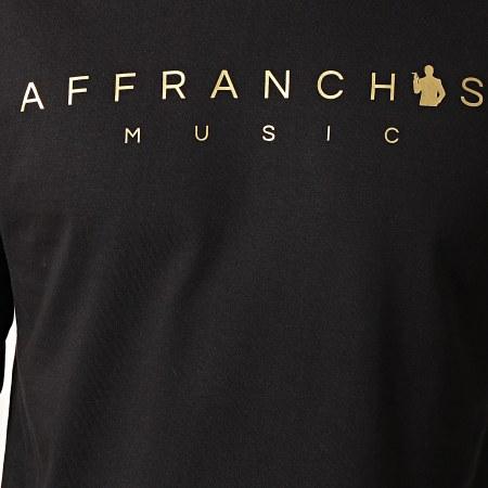 Sofiane - Tee Shirt Manches Longues Affranchis Music Noir Or