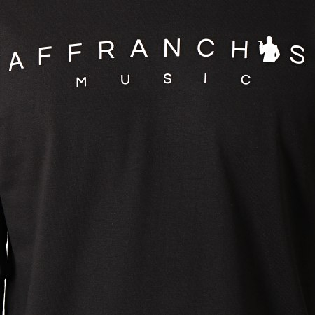 Sofiane - Tee Shirt Manches Longues Affranchis Music Noir Blanc
