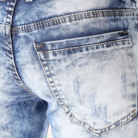 MTX - Short Jean Slim E6869 Bleu Denim
