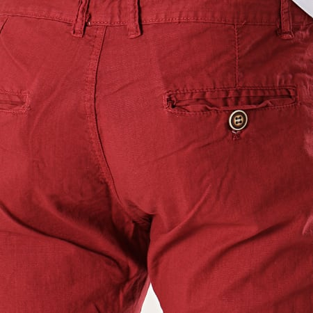 MTX - Short Chino A Bandes MM3312 Bordeaux