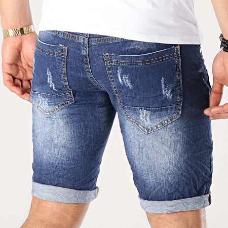 MTX - Short Jean Slim E6832 Bleu Denim