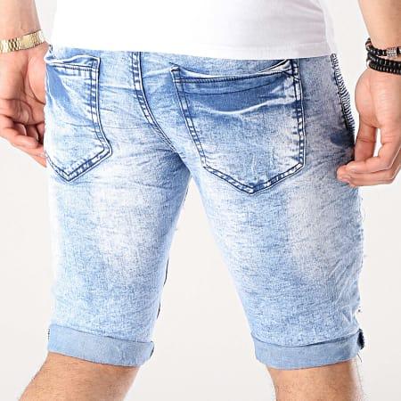 MTX - Short Jean Slim E6861 Bleu Denim