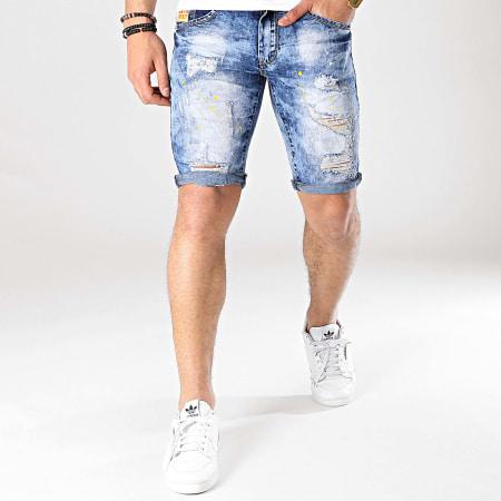 MTX - Short Jean Slim E6805 Bleu Denim