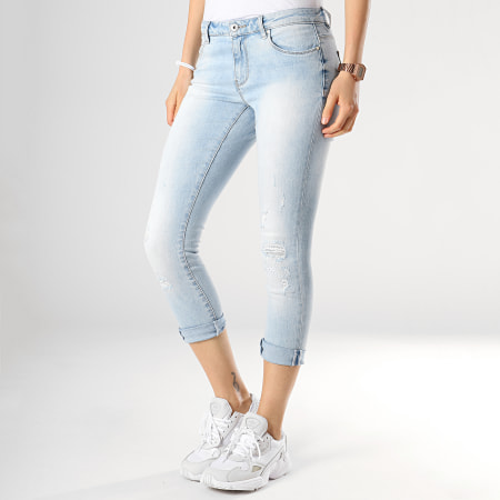 Only - Jean Regular Skinny Femme Carmen Bleu Wash