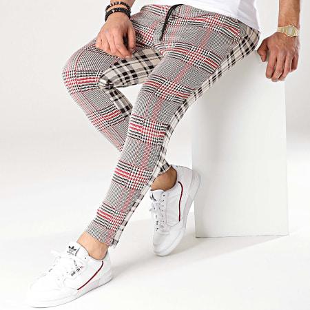Uniplay - Pantalon A Carreaux UPP40 Beige Noir Rouge Marron
