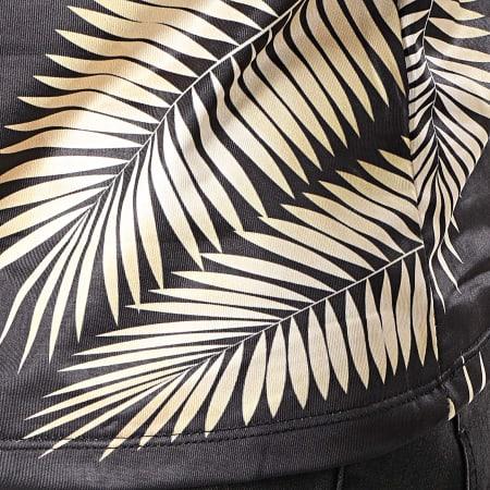 Uniplay - Tee Shirt UY373 Noir Beige Floral