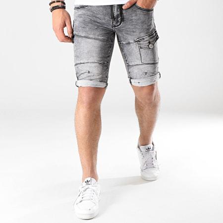 MTX - Short Jean Slim E6891 Gris