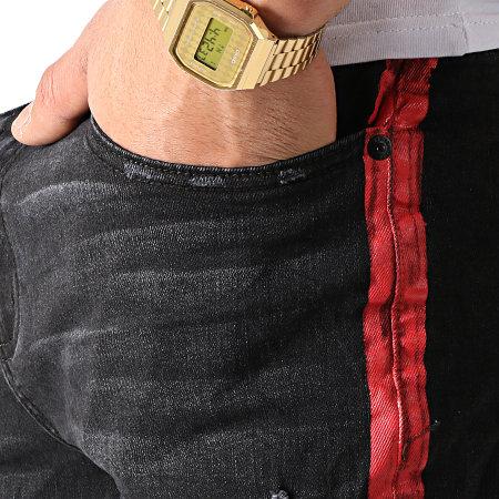 Classic Series - Short Jean 58039 Noir Rouge