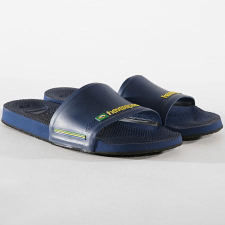 Havaianas - Claquettes Slide Brasil 4142616 Bleu Marine
