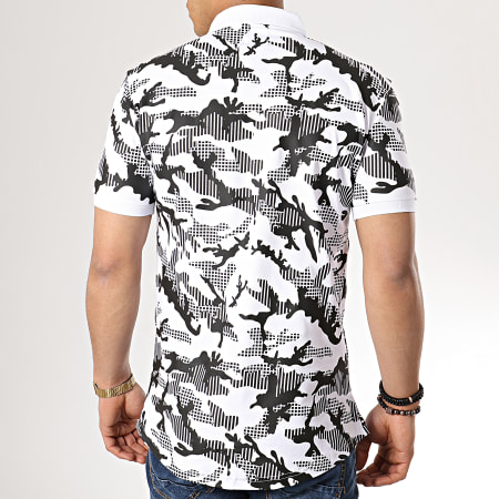 Ikao - Polo Manches Courtes F436 Blanc Camouflage