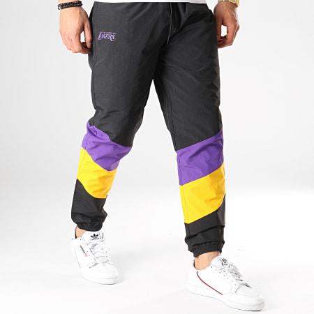 New Era - Pantalon Jogging NBA Colour Block Los Angeles Lakers Noir Jaune Violet