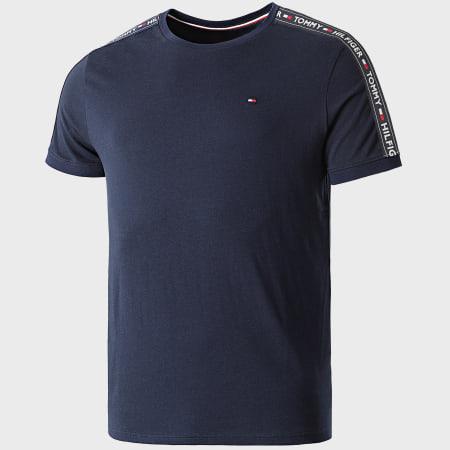 Tommy Hilfiger - Tee Shirt Avec Bandes 0562 Bleu Marine
