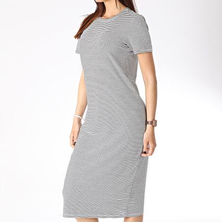 Vero Moda - Robe Femme Ava Blanc Noir