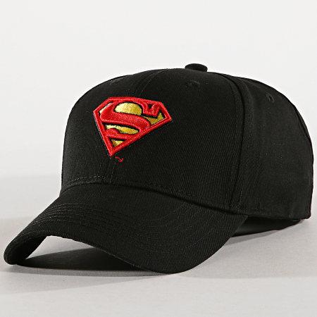 Superman - Casquette Logo Sup1 Noir Rouge Jaune