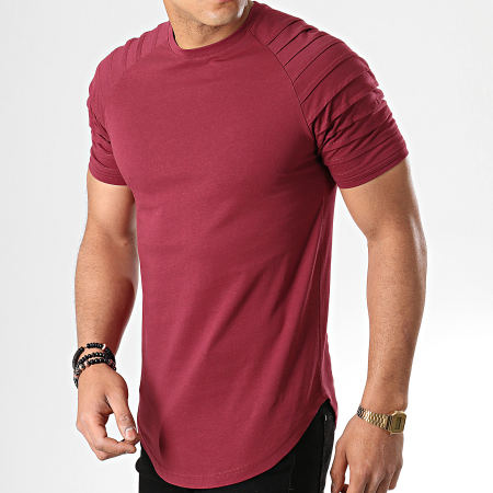 LBO - Tee Shirt Oversize 706 Bordeaux