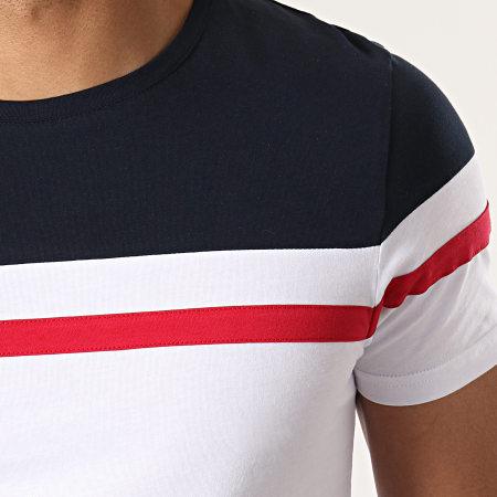 LBO - Tee Shirt Tricolore 726 Bleu Rouge Blanc